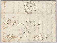 LOMBARDO VENETO storia postale - PRECURSORI busta prefilatelica: MILANO 2CO 1840