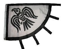 3'x4' ft Viking Raven Flag Black and White Norseman Norse 3x4 Flag grommets