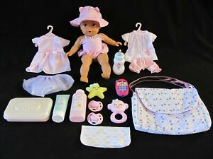 """Perfectly Cute My Sweet Beach 14"""" Baby Doll w/Diaper Bag Accessories & Clothes"""