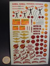 "DECALS 1/43 - 1/32 - 1/24 ANCIENS LOGOS "" SHELL "" - T327"