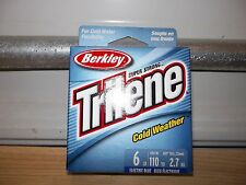 Berkley Trilene Cold Weather ice fishing line 6 lb test 110 yards electric blue