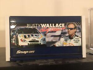 RUSTY WALLACE SNAP ON MINI TOOL BOX BLUE