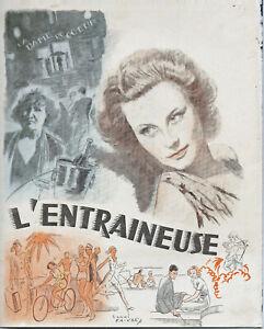 M.MORGAN - L'ENTRAINEUSE - A.VALENTIN  - 1939  - 22 x 27 cm  - ACE - 16 pages