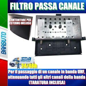 FILTRO PASSA CANALE IN BANDA UHF, ATTENUA TUTTI GLI ALTRI (TARATURA INCLUSA)