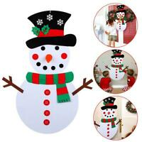 DIY Felt Christmas Snowman Game Set Detachable Ornament Xmas Decor Hanging P4S0