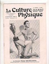 La Culture Physique Bodybuilding Muscle Magazine/Victor Nicoletti 3-47 French