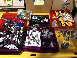 Lot Of Transformers Construct Bots Bumblebee Megaton Figures