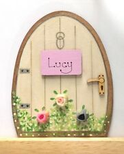 Personalised Handpainted Fairy Door Pixie Tooth Fairy Gift Skirting Board Decor