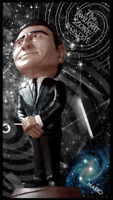 IMAGINE IF YOU WILL The Rod Serling TWILIGHT ZONE STATUE by MARKO