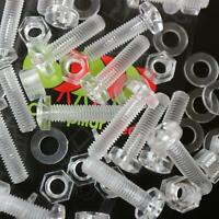 20 x durchsichtige, klare M5 x 20mm, Schrauben aus Plastik, Acryl, Kunststoff