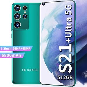"S21 Global Version 7.3"" Utra Smartphone 12G+512GB 6800mAh Unlocked Deca Core"