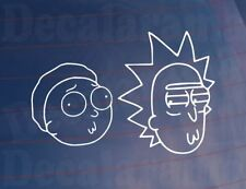 RICK & MORTY HEADS Funny Novelty Dub Car/Camper/Window/Bumper Sticker/Decal