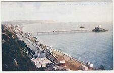 ISLE OF WIGHT - Sandown Pier, View From The West - 1917 used Photochrom postcard