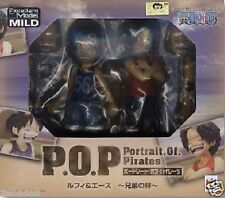 Used P.O.P PORTRAIT Of Pirates One Piece CB-EX Luffy & Ace PAINTED