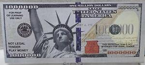 * Statue Of Liberty Lot of 3-1,000,000 Novelty Miss Liberty Million Dollar Bills