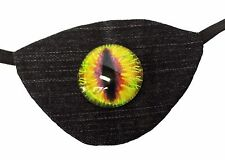 Eye Patch Dragon's Eye Reptilian Gothic Steampunk Pirate Buccaneer Fashion Evil