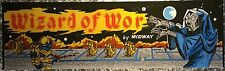 "Wizards of Wor Arcade Marquee 22.875"" x 7.375"""