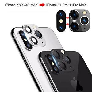 COVER FOTOCAMERA VETRO per Iphone X/XS Max TRASFORMA CAMBIA in Iphone 11/Pro Max