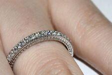 14K White Gold Fn Jewelry gift 0.21Ct Round Cut Diamond Band Anniversary Ring