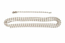 """40 Inch Dog Tag Chain Set Stainless Steel 2nd Chain Is 5.5"""" Air Force Navy"""