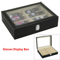 8 Grids Sunglasses Eyeglasses Glasses Display Box Case Storage Organizer Holder