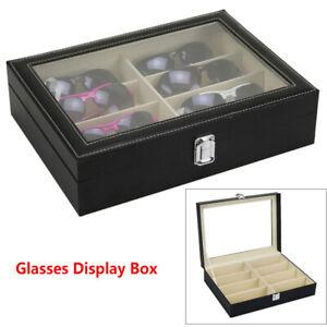 8 Grids Glasses Display Storage Case Box Organizer For Sunglasses Eyeglass