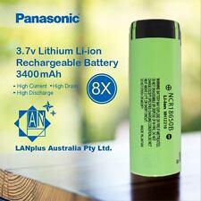 8x Panasonic NCR 18650B Rechargeable Battery 3400mAh 3.7v Lithium Li-ion FlatToP
