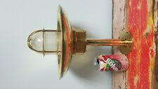 Authentic Ship Salvaged Solid Brass Wiska Ceiling Light with shade and flange.