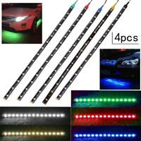 4x 30cm/11.8in 15LED Waterproof Flexible Car Truck Grill Light Strips Decor Lamp