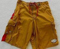 Central Surf Mens 32 Swim Cargo Board Color Block Nylon Shorts Trunks (C5021)