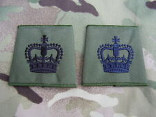 British Army,PARA,SAS,RAF,RM,SBS - Olive Green Shirt/Jumper WO2/CSM Rank Slides