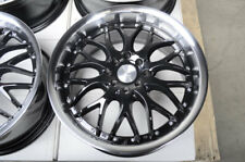 "17"" inch Wheels Honda Civic Accord Miata Escort Legend Black 4x100 4x114.3 Rims"