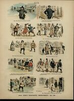 New York Improvements historical Stereotypes Cultural Humor 1891 Opper print