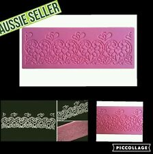 LACE MAT hearts design   Food Grade Silicone Mould Chocolate Cup Cake Sugarcraft