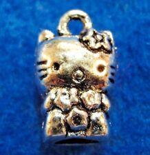 10Pcs. Tibetan Silver 3D KITTY CAT Charms Pendants Earring Drops Findings C20A