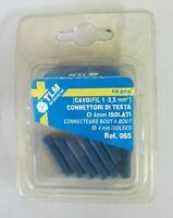 TLM Connettori di testa ø 4 mm isolati 10 pz ø filo 2,5 / 1 mmq cod. 065 nuovo