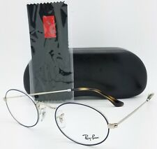 NEW Rayban Eyeglass Frame Blue Silver RX3547V 2970 51mm 3547 AUTHENTIC round Rx