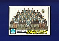 Toronto Maple Leafs Team CL (Unmarked) 1977-78 O-PEE-CHEE OPC Hockey #86 (NM)