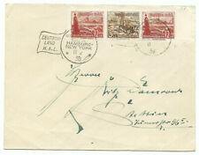 """Brief DEUTSCH-AMERIKANISCHE SEEPOST HAMBURG-NEW YORK """"Deutschland"""" 1938 mit ZD!!"""