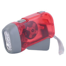 Torch Wind Up Hand Press Rechargeable Torch 3 LED Camp Flashlight Small IM