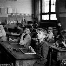 Vintage photo/poster/Black and White/Children in School/1930's/17x17 inch