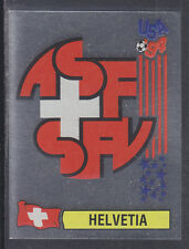 Panini - USA 94 World Cup - # 37 Helvetia Foil Badge (Green Back)