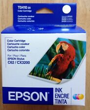 (1) EPSON T044120 COLOR INK CARTRIDGE for STYLUS C62 / CX3200, GENUINE, 2005