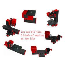 6 Tools in 1 CNC Wood Metal Lathe Milling Machine Jig-saw Driller Grinder Miller