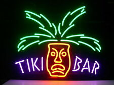 "New Tiki Bar Totem Pole Beer Lager Neon Light Sign 17""x14"""