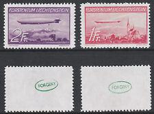 Liechtenstein (722) 1936 Zeppelin set of 2 -  a Maryland FORGERY unused