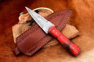 MH KNIVES CUSTOM HANDMADE DAMASCUS STEEL FULL TANG HUNTING/SKINNER KNIFE MH-207A