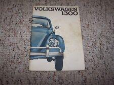 1965 VW Volkswagen Beetle Bug Super Beetle 1300 Owner's Owner User Manual Book
