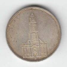 1934 GERMANY 3rd Reich 5 Reichs Mark Potsdam Garrison Church SILVER COIN #34