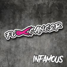 Cancer Sticker F#ck Ribbon Decal Awareness Survivor Breast Hope Car Laptop